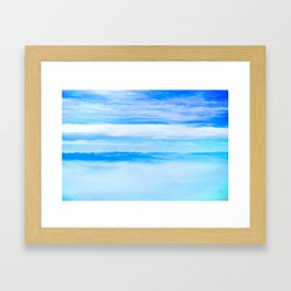 Heavenly Mountains In A Sea Of Clouds Framed Art Print