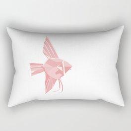 Origami Angelfish Rectangular Pillow