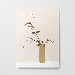 Flowers in the Vase Metal Print