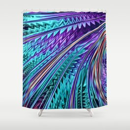 Jewel Rainbow Fractal Art Shower Curtain