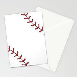 Baseball Laces Stationery Cards
