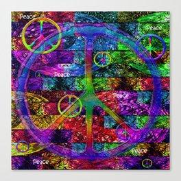 Peace Symbol Rainbow Flag Canvas Print