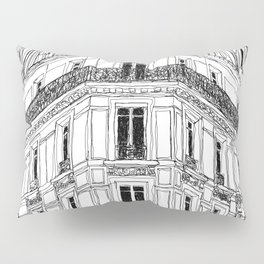 Parisian Facade Pillow Sham