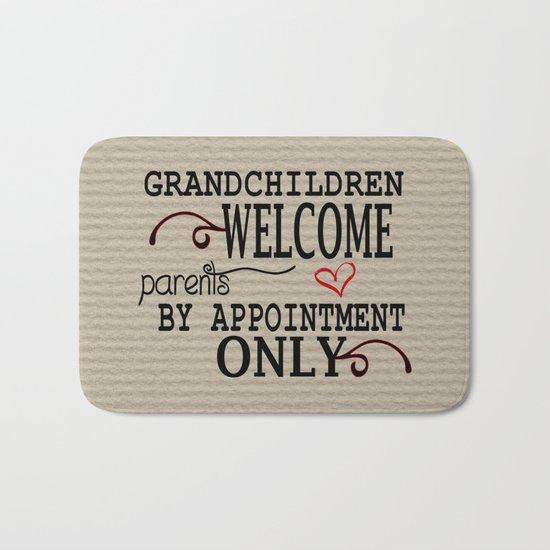 Grandchildren Welcome Bath Mat
