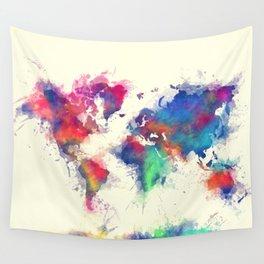 world map 105 #worldmap #map Wall Tapestry
