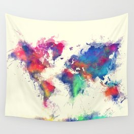 world map 105 #worldmap #map Wall Tapestry