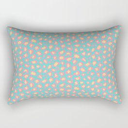Leopard Baby - Pink and  Blue Rectangular Pillow