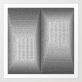 Binary Rooms Art Print