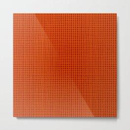 Rust Grid Metal Print