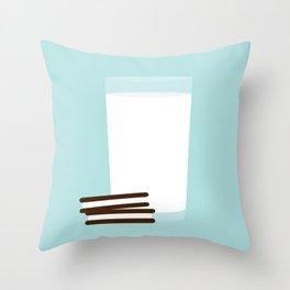 #25 Milk and Cookies Throw Pillow