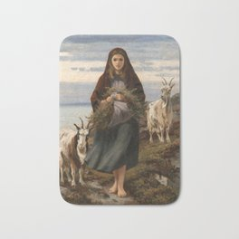 Connemara Girl by Augustus Nicholas Burke Bath Mat