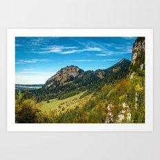 Hohenschwangau Mountains Art Print