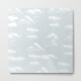 Sky with clouds pattern #600 Metal Print
