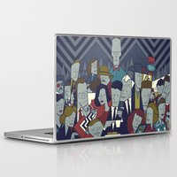 twin peaks Laptop & iPad Skins featuring Twin Peaks by Ale Giorgini