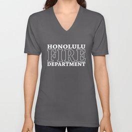 Honolulu Fire Department Hawaii Firefighter Unisex V-Neck