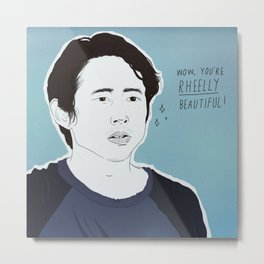 THE WALKING DEAD POSITIVITY POSTS (GLENN RHEE) Metal Print