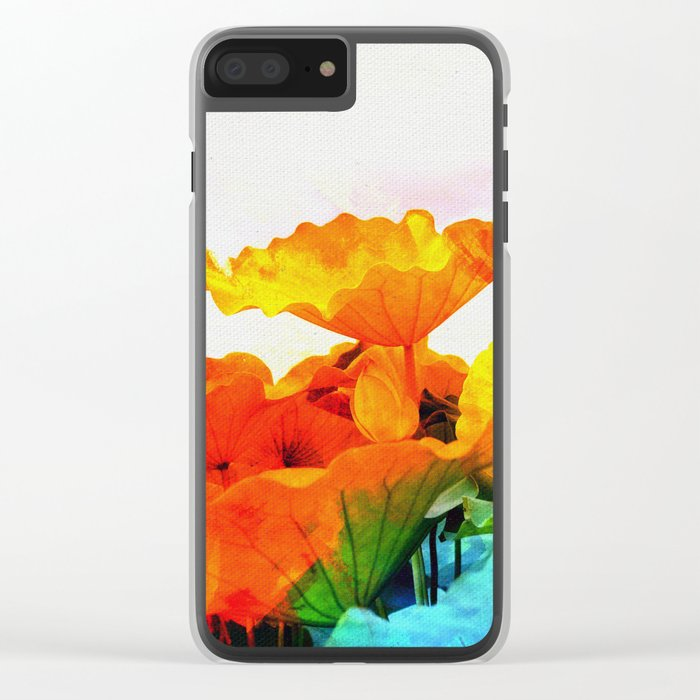 Enchanted Lotus Leaves Clear iPhone Case