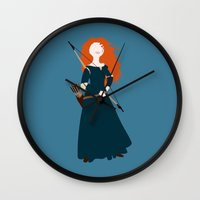 brave Wall Clocks featuring brave by Live It Up