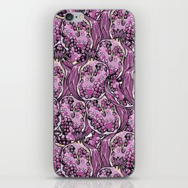 Pomegranate violet fresh seamless pattern! iPhone Skin