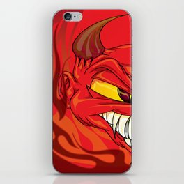 Devil in Flames iPhone Skin