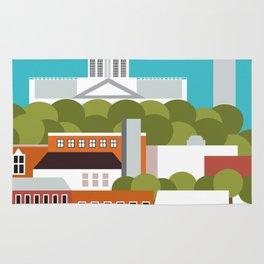 Columbia, South Carolina - Skyline Illustration by Loose Petals Rug