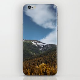 Mountains and clouds photography Waterton, Alberta iPhone Skin