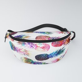 watercolor and nebula pineapples illustration pattern Fanny Pack