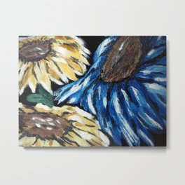 """Thumbnail of the painting """"SUNFLOWERS"""" Metal Print"""