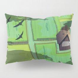 Rice paddy field Pillow Sham