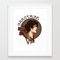 grantaire Framed Art Prints featuring grantaire by chazstity