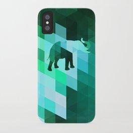 Emerald Elephant iPhone Case