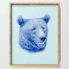 Brown bear is blue Serving Tray