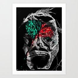 Pain Killers Masking Emotions Design Art Print