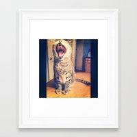 fierce Framed Art Prints featuring Fierce  by Courtney White