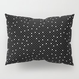 Pin Point Polka White on Black Repeat Pillow Sham