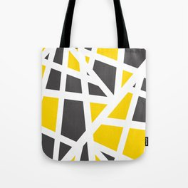 Abstract Interstate  Roadways Gray & Yellow Color Tote Bag