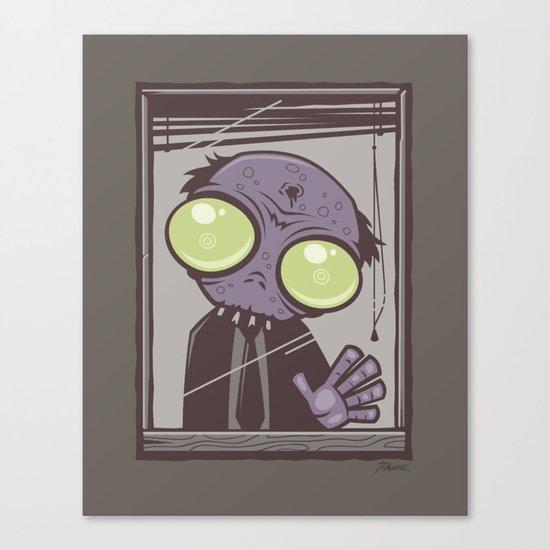Office Zombie Canvas Print