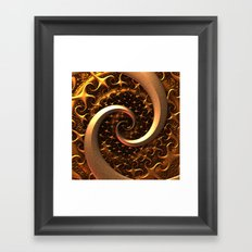 Golden Spirals Framed Art Print