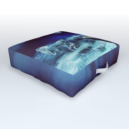 Wolf Family(pack) - Fantasy Photo Manipulation Outdoor Floor Cushion