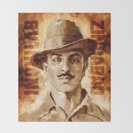Shaheed-E-Azam Bhagat Singh Throw Blanket
