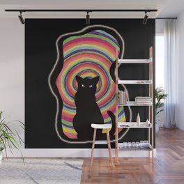 time for child stories: the BLACK CAT Wall Mural