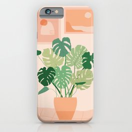 Monstera plant + Wall inspo iPhone Case