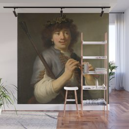 Govert Flinck - Rembrandt as sheperd with staff and flute Wall Mural