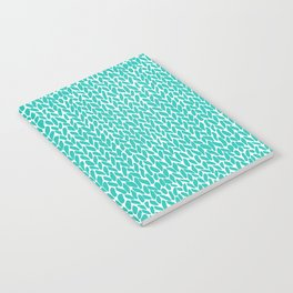 Hand Knit Aqua Notebook