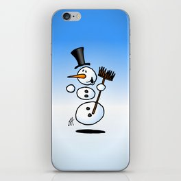 Dancing snowman iPhone Skin