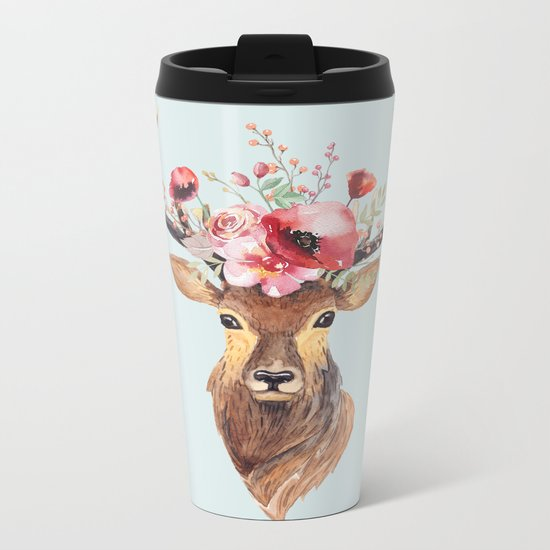Bohemian Deer 2 Metal Travel Mug