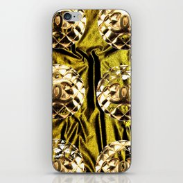 gold vintage earrings coco iPhone Skin