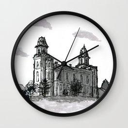Manti Utah Temple Wall Clock