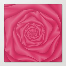 Spiral Rose in Pink Canvas Print