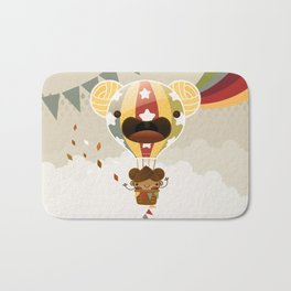 Chestnut Girl Balloon!!! Bath Mat